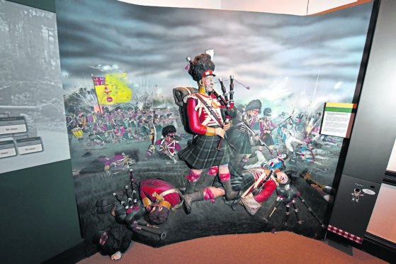 Behind the scenes at the Gordon Highlanders Museum.  Picture by Kenny Elrick.