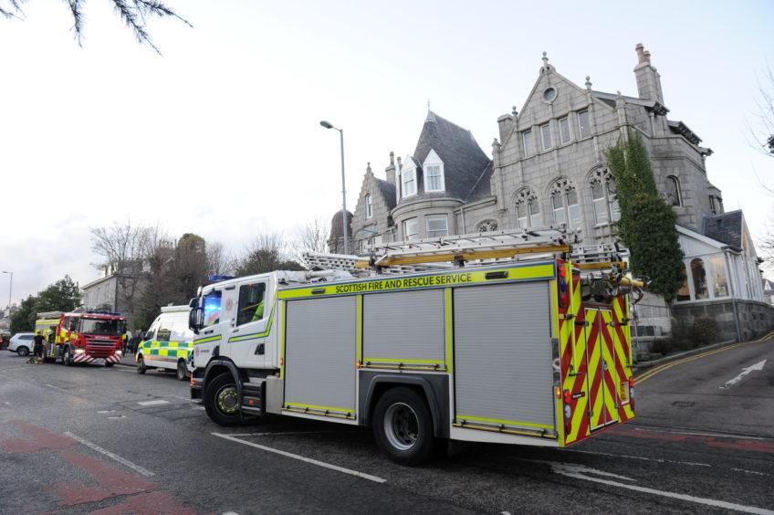 Scottish Fire and Rescue Service were on the scene.