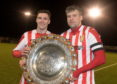 Formartine United's Graeme Rodger and Craig McKeown, right.