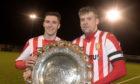 Formartine United's Graeme Rodger and Craig McKeown, right.