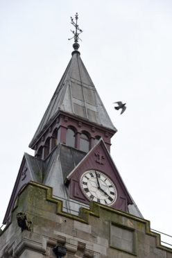 The Nairn Courthouse which is to have major works and repairs to its tower and steeple.