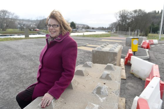 Councillor Bet McAllister at the crossing point on the Caledonian Canal in Inverness of the next phase of West Link.