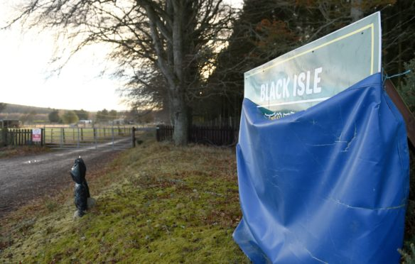 The now derelict Black Isle Wildlife Park which is to be rebuilt as a holiday complex.