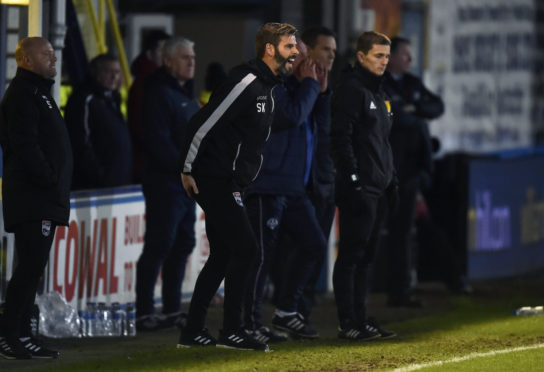 04/01/19 LADBROKES CHAMPIONSHIP MORTON v ROSS COUNTY CAPPIELOW - GREENOCK Ross County co-manager Stuart Kettlewell on the touchline.