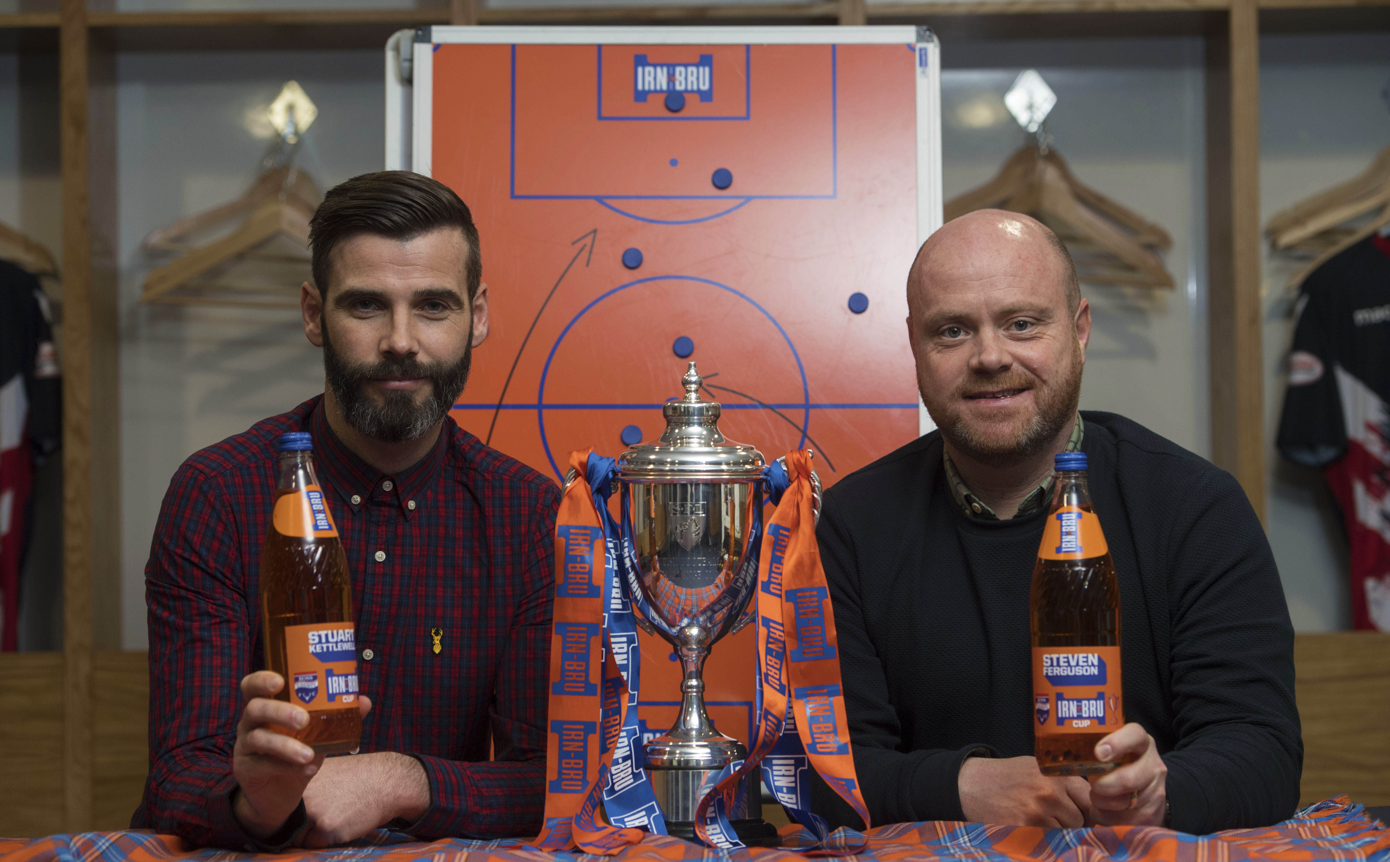 Stuart Kettlewell and Steven Ferguson lead Ross County into the IRN-BRU Cup final tomorrow.