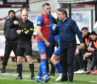 Darren McCauley was withdrawn after 33 minutes of his first start after being fortunate to escape a second booking.