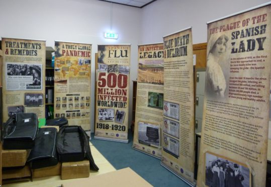 The Spanish flu exhibition opened at Banff Academy yesterday.