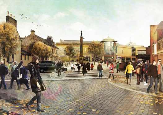 Artist impression showing what Accessing Inverness may look like after its £3-£6 million facelift.