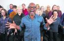 Tony Henry and the Highland Voices gospel choir.