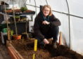 Susan Swallow, support for learning in the garden at Ellon Academy.