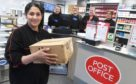 A new post office in Woodside has opened on the site of the old Chalmers bakery. The Post Office also has a JG Ross bakers outlet and is Premier Stores. Pictured is Sal Ahmad cor the owner, front, with staff from left, Sharon Howieson and Dianne Smith cor from JG Ross and Fiona Smith and Laura Robertson from the Post office. Pic by Chris Sumner Taken 11/2/19