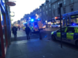 Emergency services in attendance on Union Street.