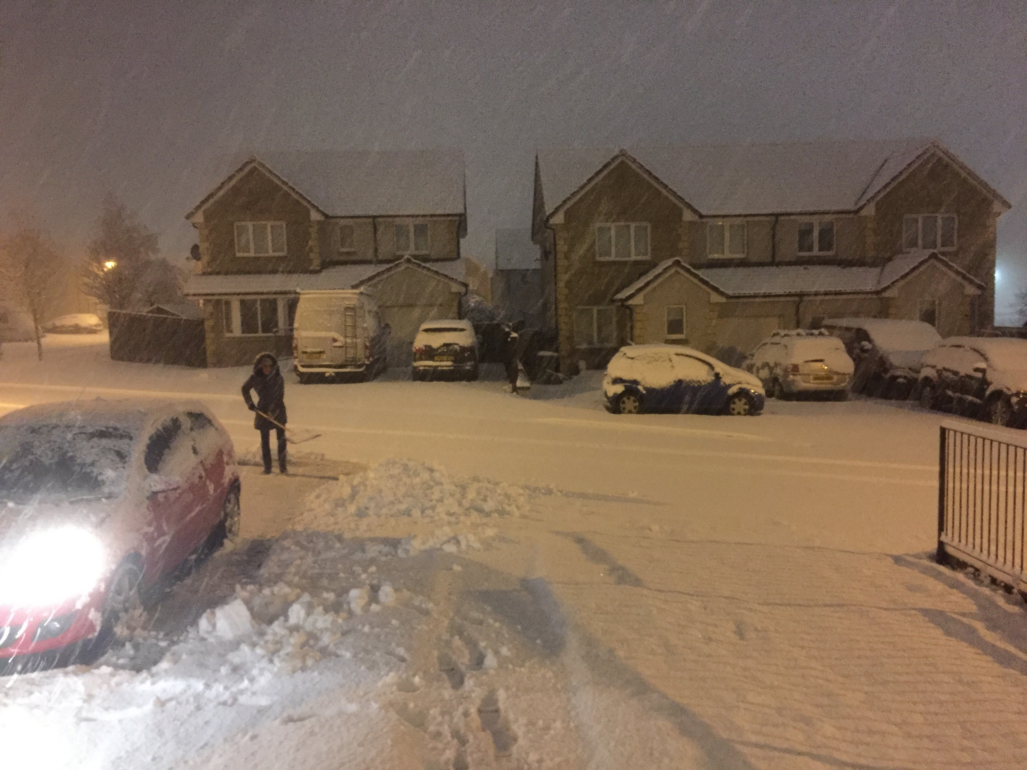 Heavy snow in Milton of Leys this morning.