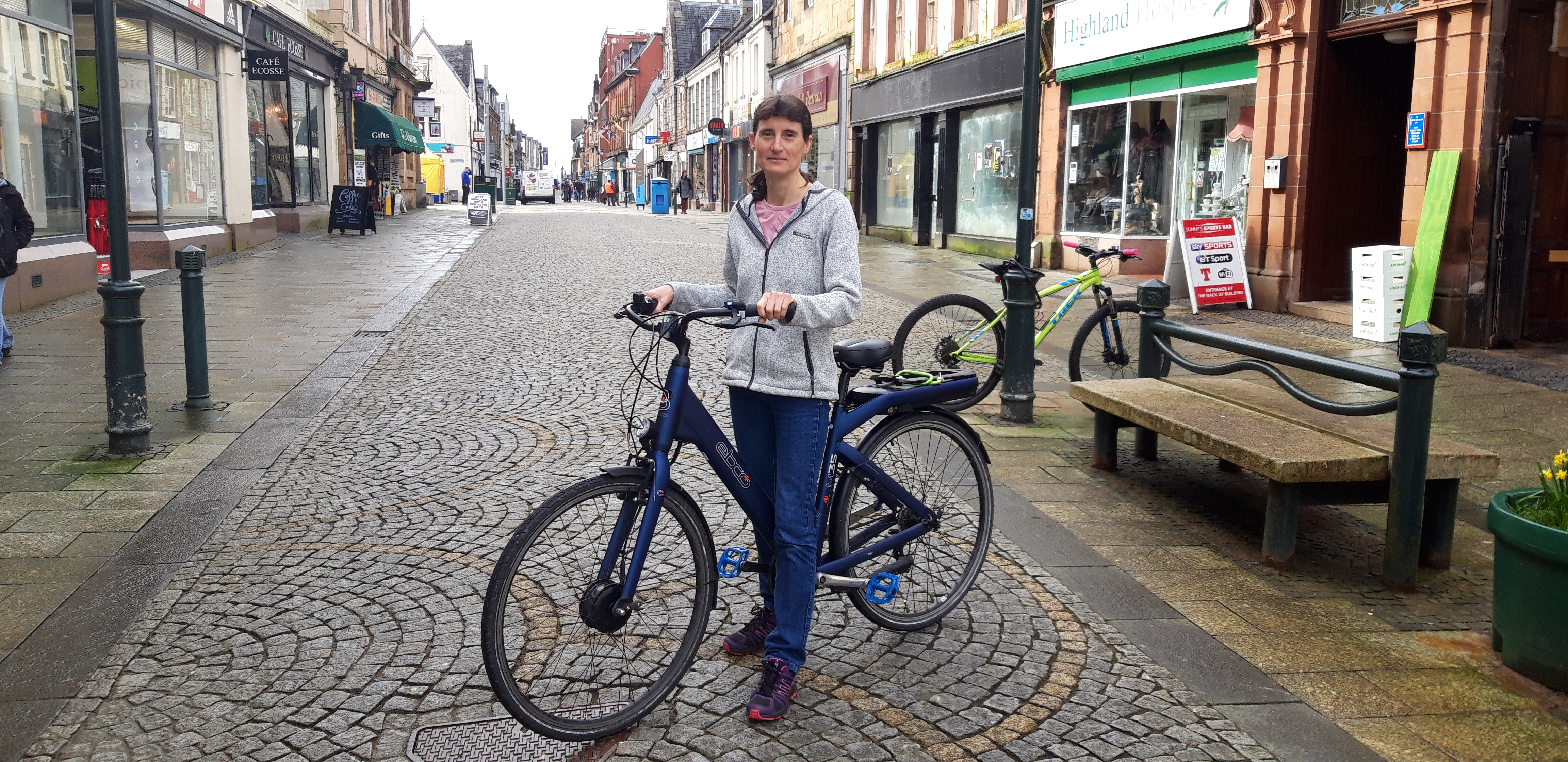 Kate Willis from Lochaber Environmental Group is encouraging motorists to get out of the car, and onto a bike.