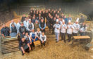 "A wide range of people who work in different parts of the Scottish beef industry - farmers, butchers, chefs, quality assurance assessors, auctioneers as well as representatives from the veterinary, haulage and processing sectors – came together to film the new Scotch Beef PGI ""Know Your Beef"" TV advert."