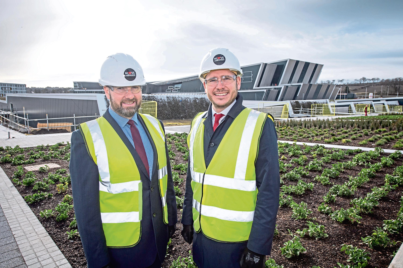 AAB Managing Partner Graeme Allan (left) and Aberdein Considine Partner Ritchie Whyte at TECA.  Aberdeen , Scotland, Fr