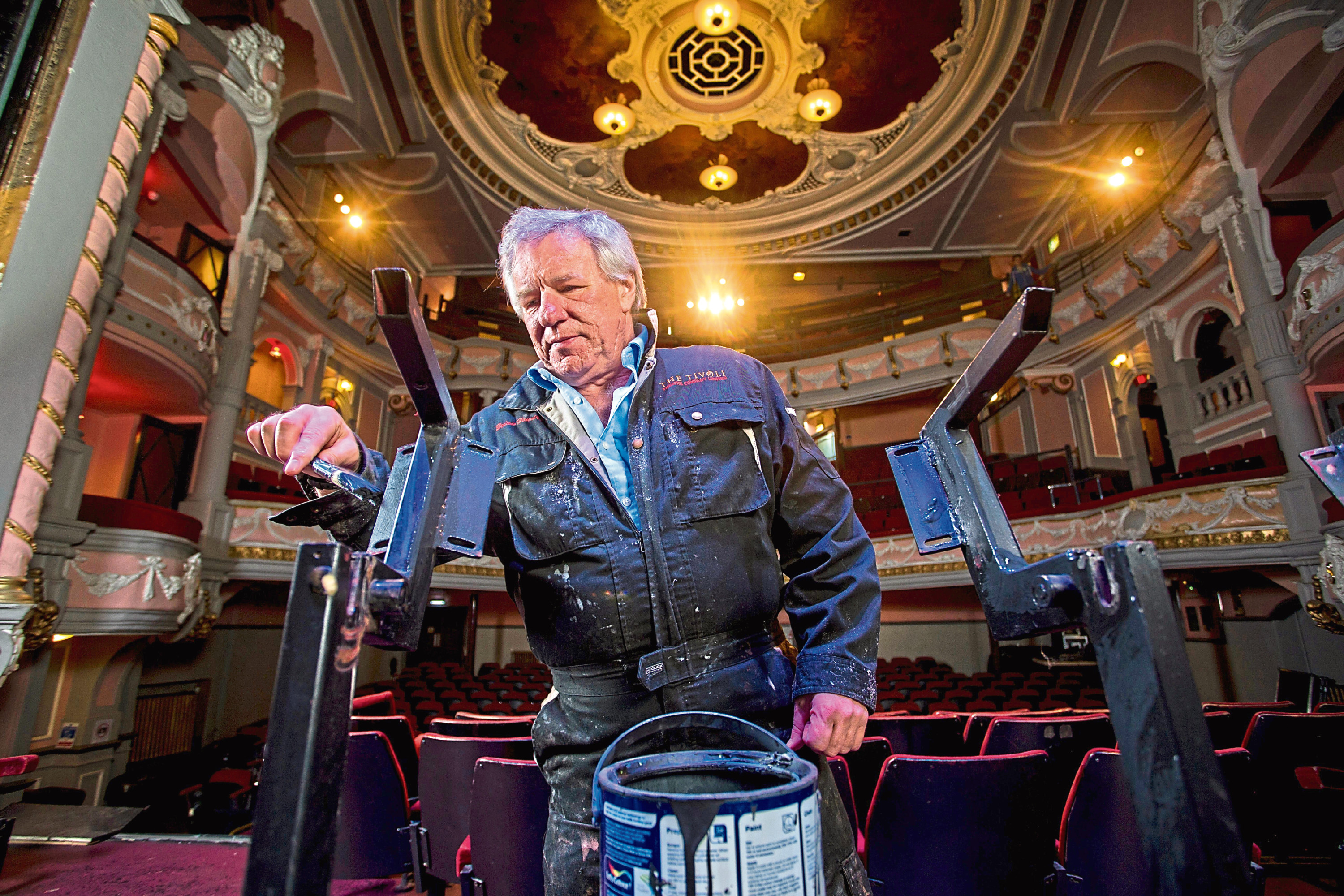Martin Gilbert helped redecorate Aberdeen's Tivoli Theatre as part of a volunteering project.