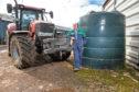 Bob Simpson of Castlemains farm, Dirleton, East Lothian  In Pic..........  (c) Wullie Marr Photography