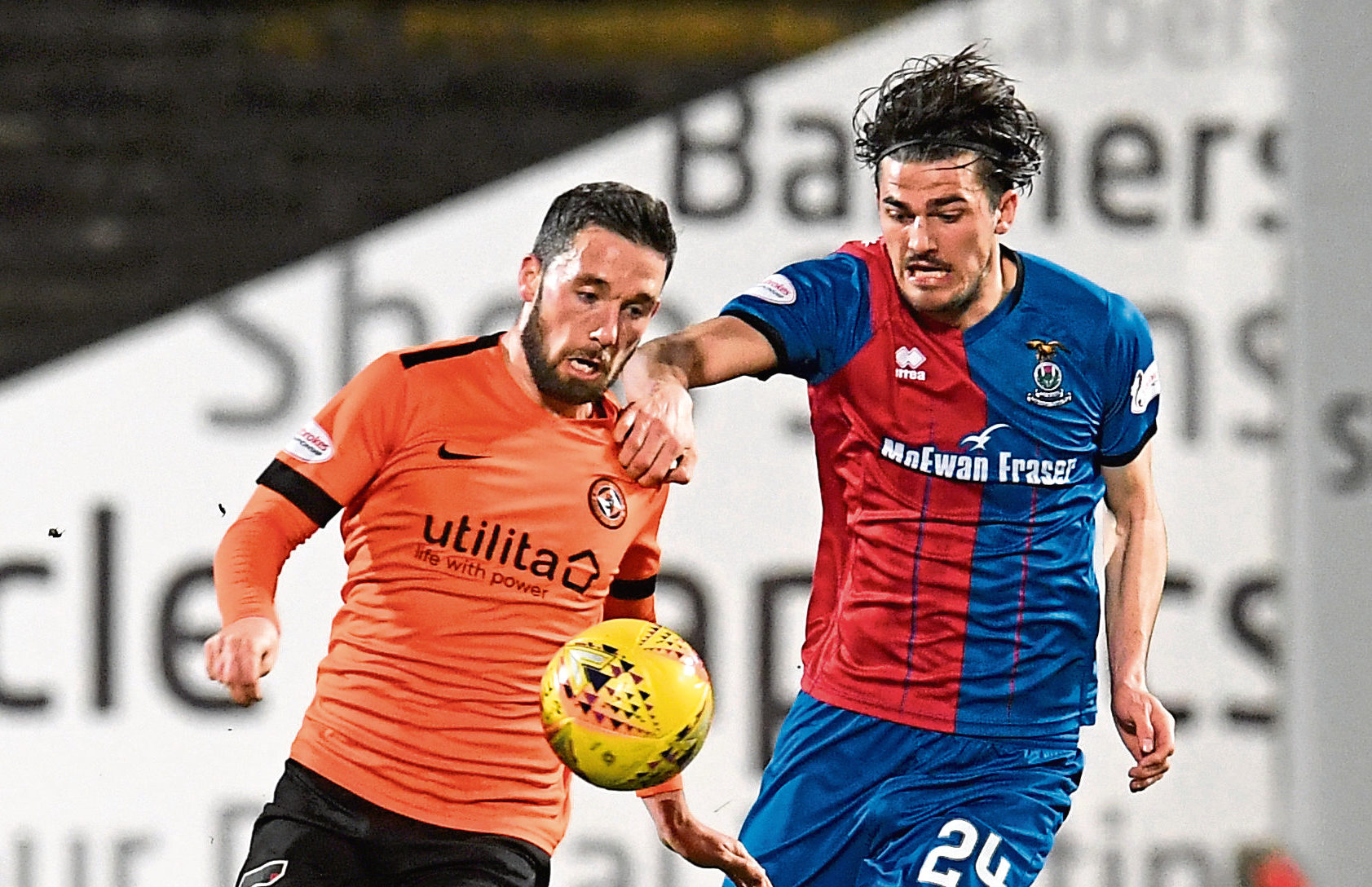 Inverness' Charlie Trafford in action