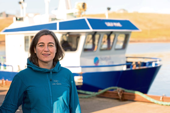 1.A photograph of Julie Hesketh-Laird, chief executive of the Scottish Salmon Producers Organisation is attached.