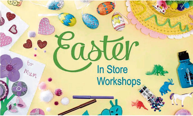 Easter workshops are available for your youngsters