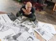 Robin Wise, an artist from Newton Dee.