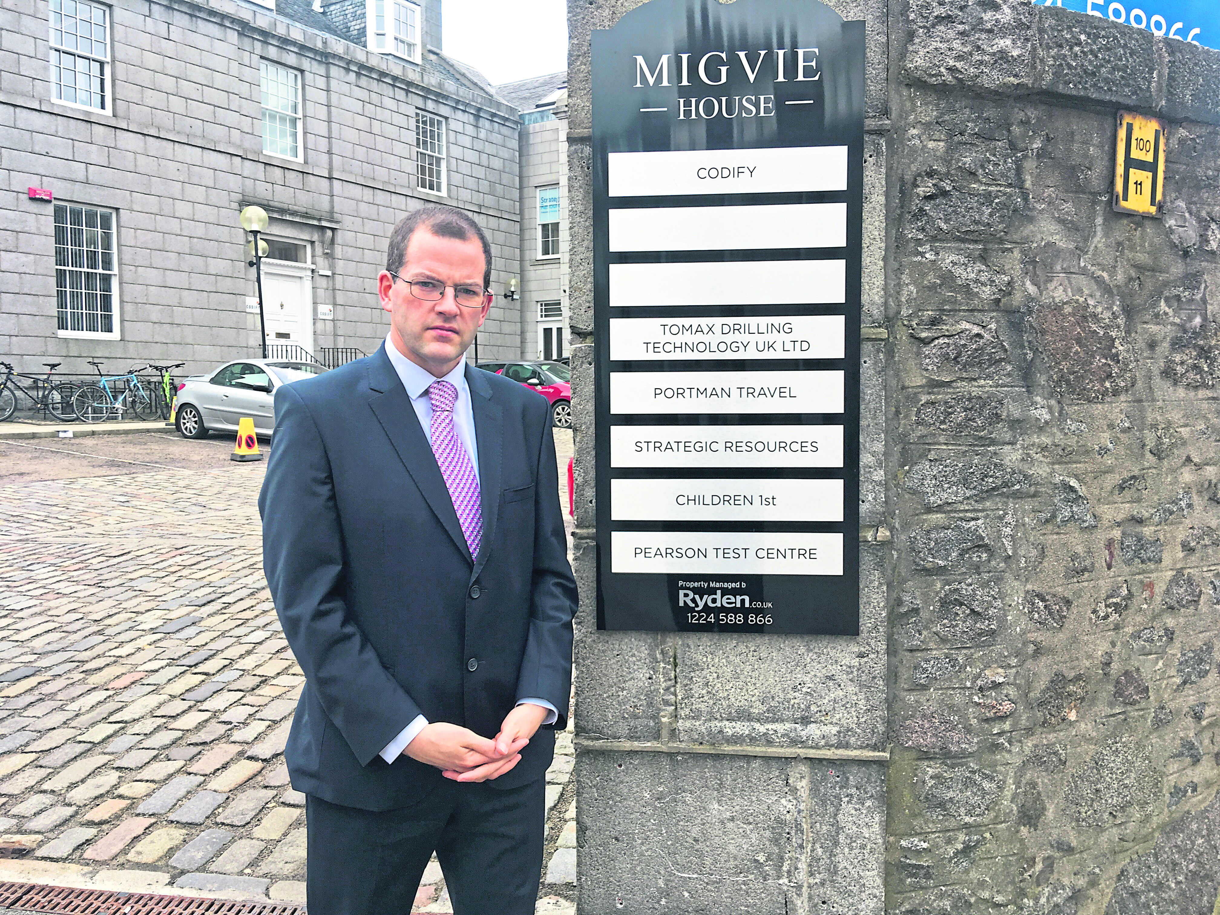 Mark McDonald outside Migvie House.  Children 1st story. Pic by Stephen Walsh 22/03/2019