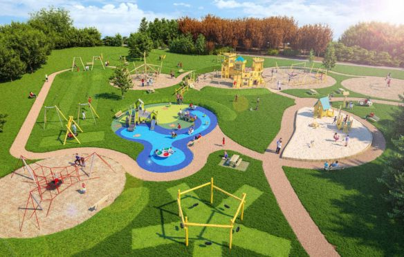 The plans unveiled for the new playpark which is scheduled to be ready by August this year.