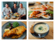 L2R Head Chef Andy Fyfe, Waitress Paige and Manager Kevin Staines with some of their creations. Pictures by Jason Hedges.