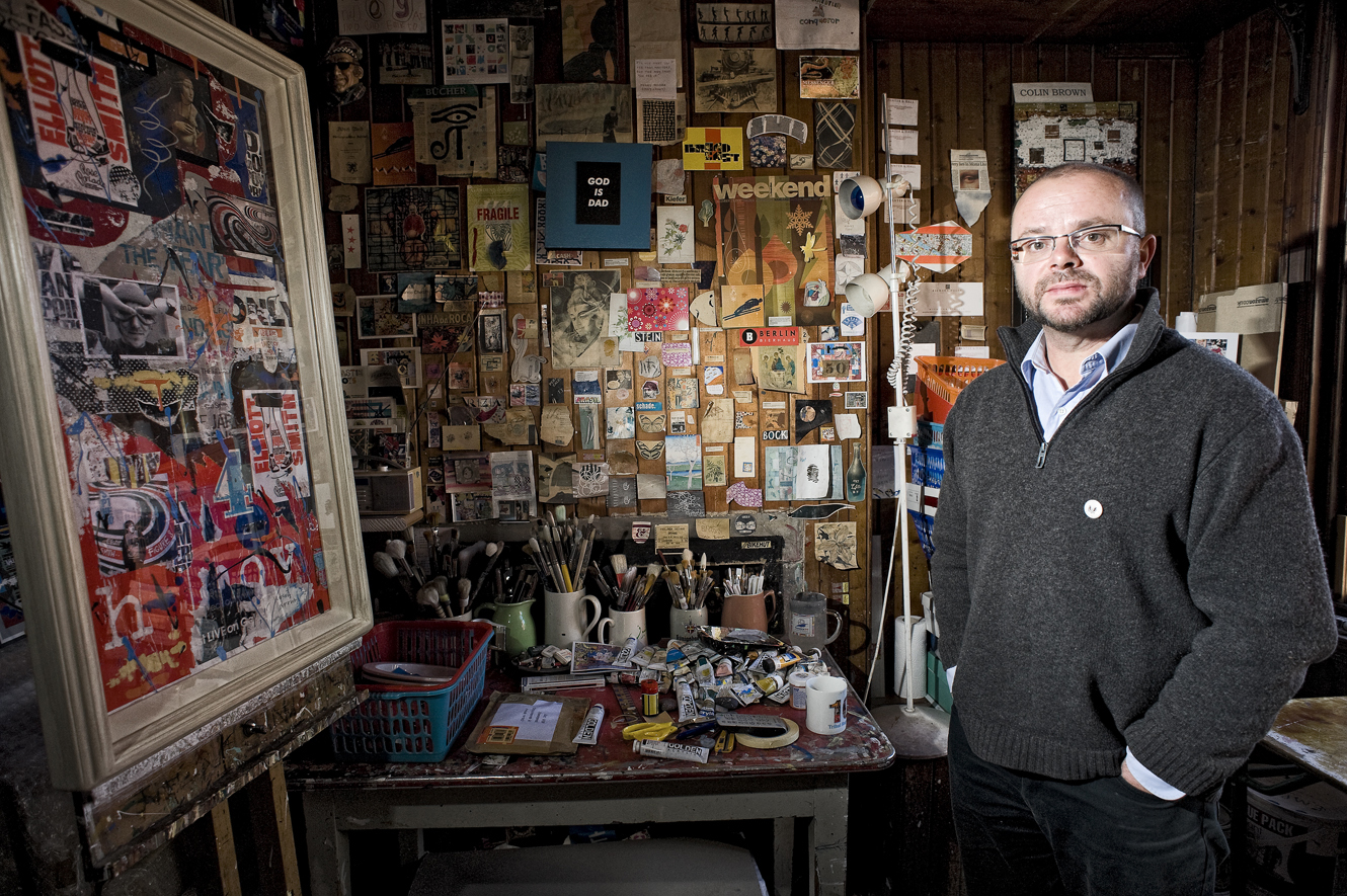North east artist Colin Brown has created a Love Letter to Europe exhibition.