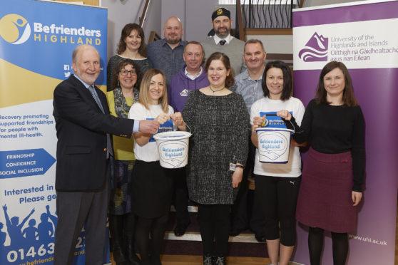 University staff have raised over £5000 to benefit Befrienders Highland