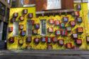 An art work by Ben Eine in Middlesex Street, London.