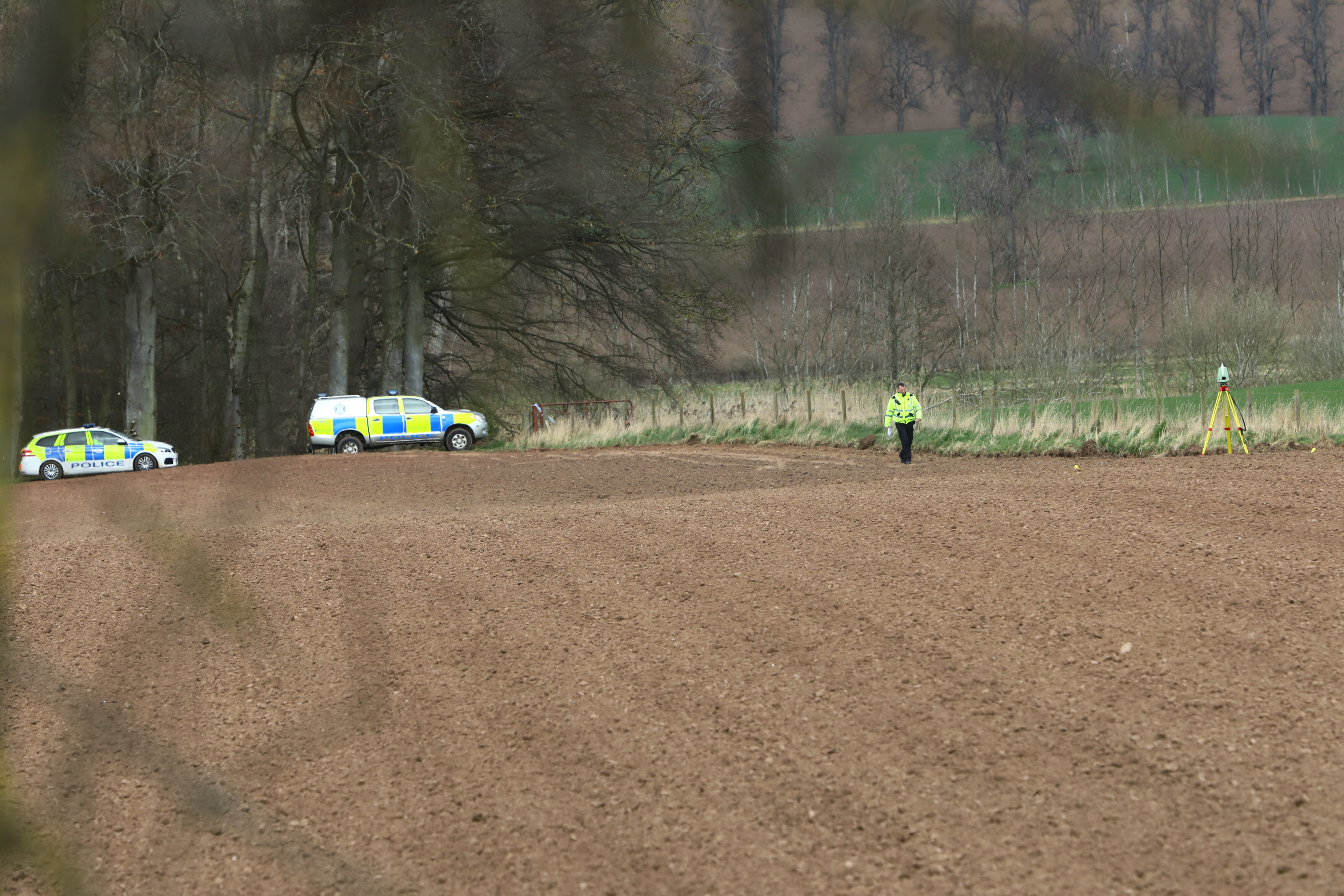 The incident occurred on the Rossie Estate, near Inchture