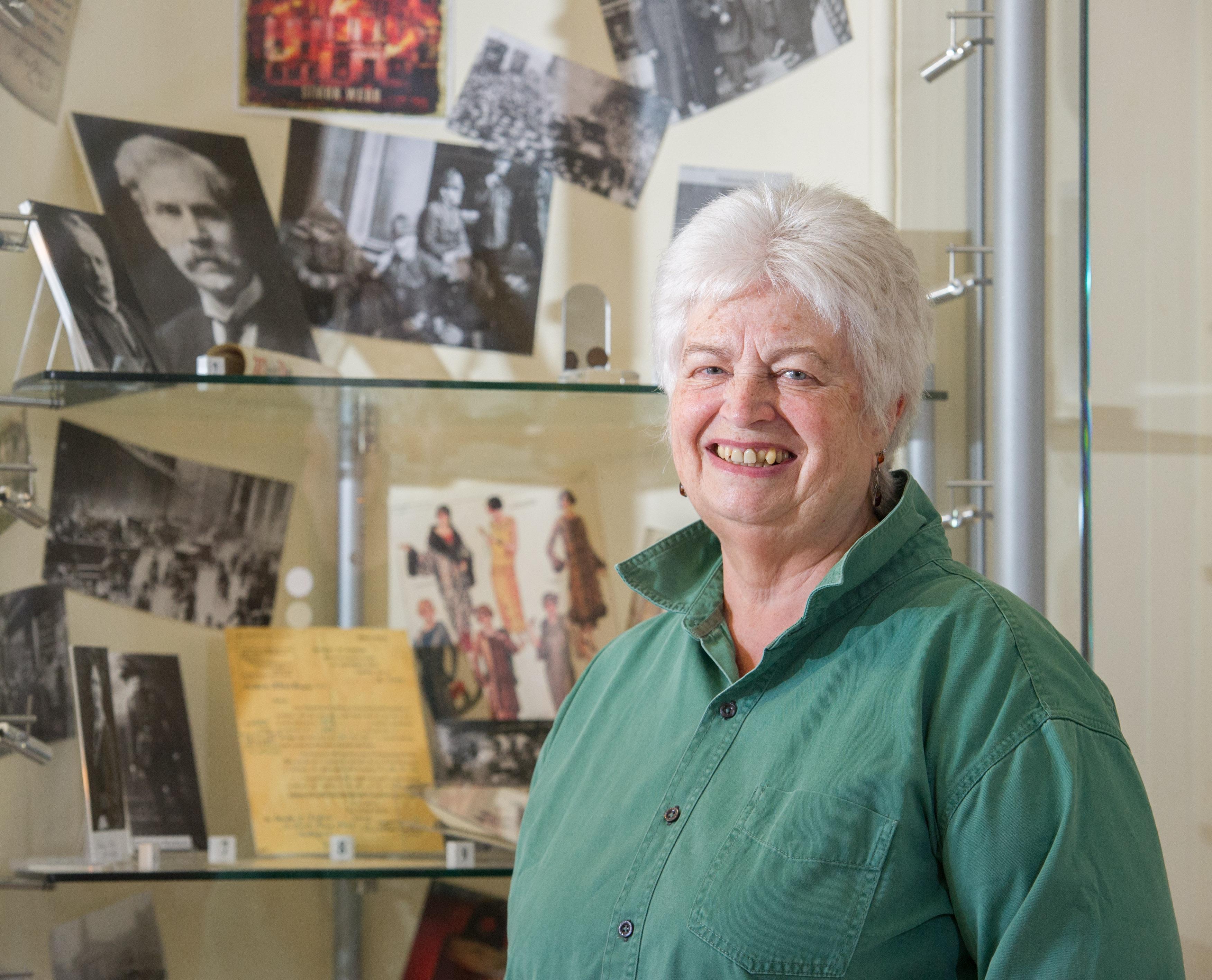 Elgin Museum volunteer Mary Shand.