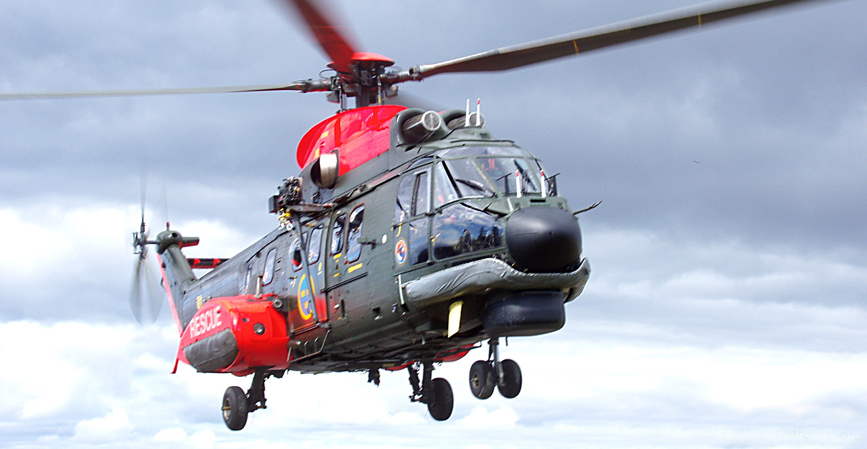 Super Puma Rescue Helicopter.