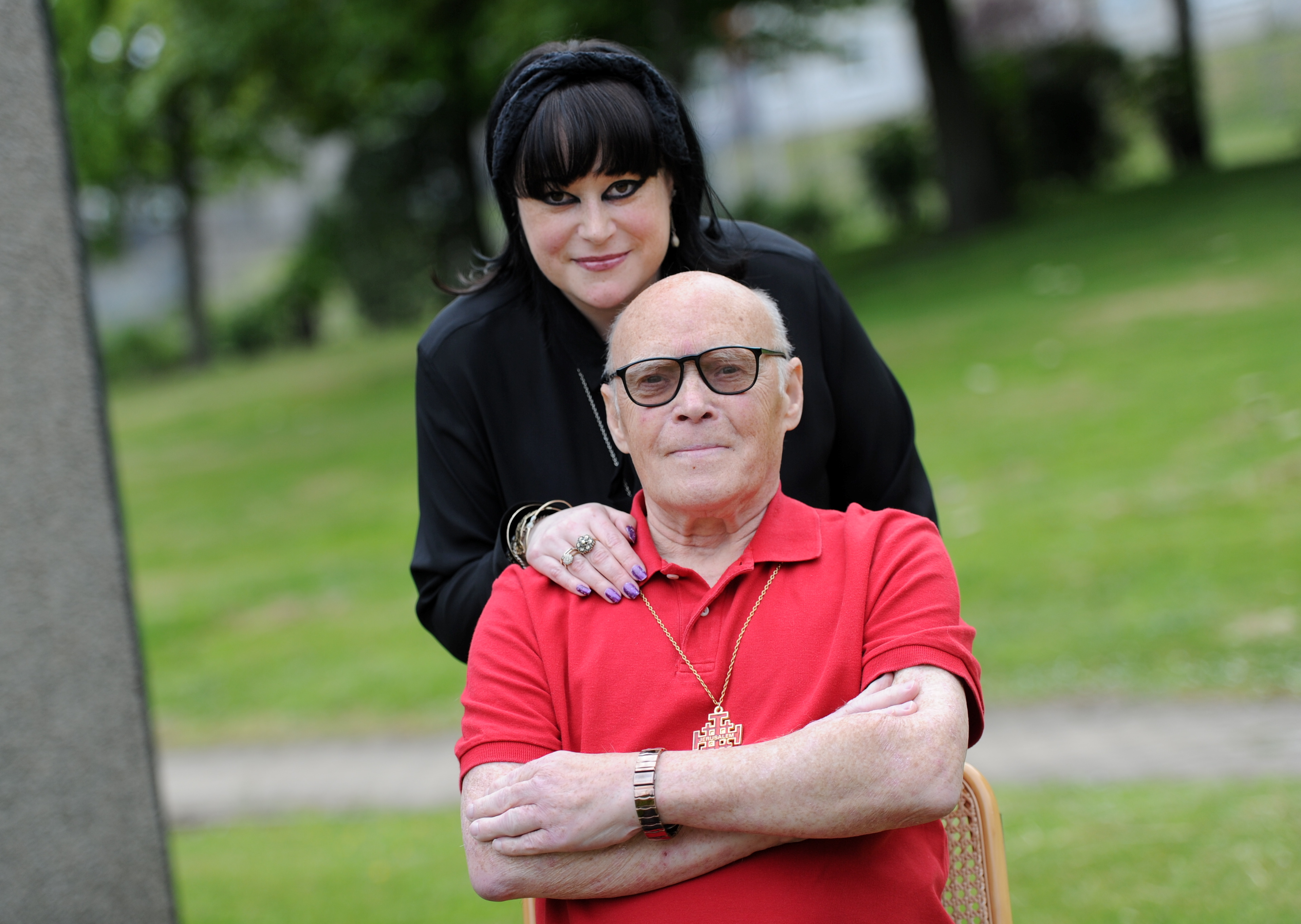Pictured are Faith Jason Robertson-Hoy with her dad Robert Robertson.