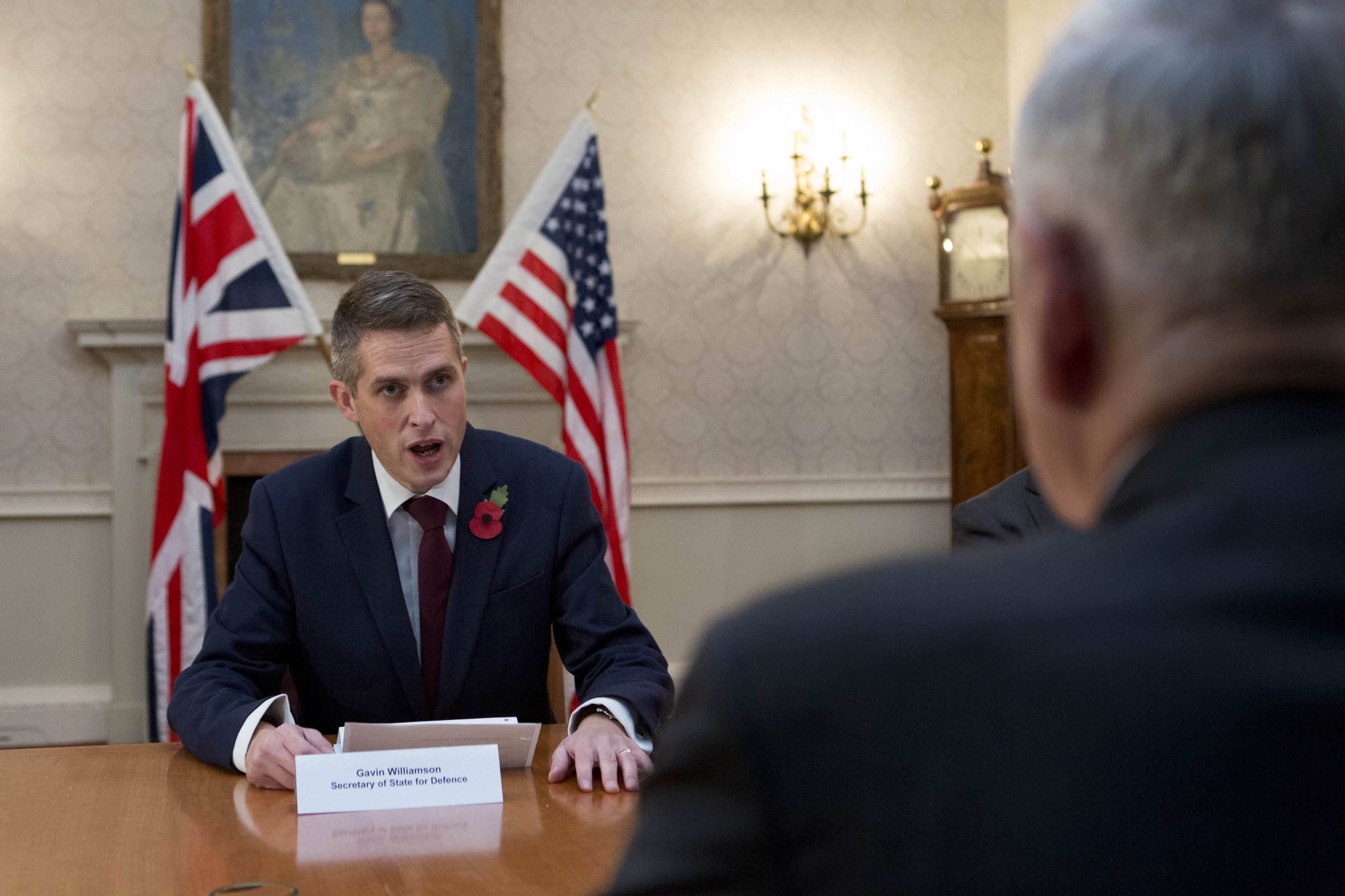 Defence Secretary Gavin Williamson and US Defence Secretary James Mattis during a bilateral meeting at the Ministry of Defence in London, following NATO and counter-Daesh talks in Brussels.