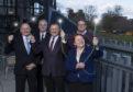 L-R: Jim Crawford, Capita, James McClafferty, CityFibre, Drew Hendry MP, Margaret Davidson, Highland Council leader, John Robertson, Highland Council