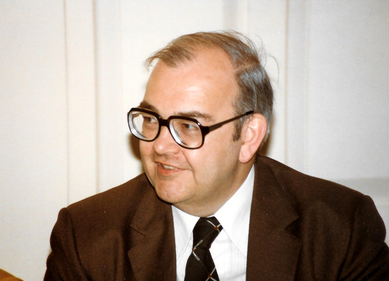 Dr William Peddie Brown in 1983.