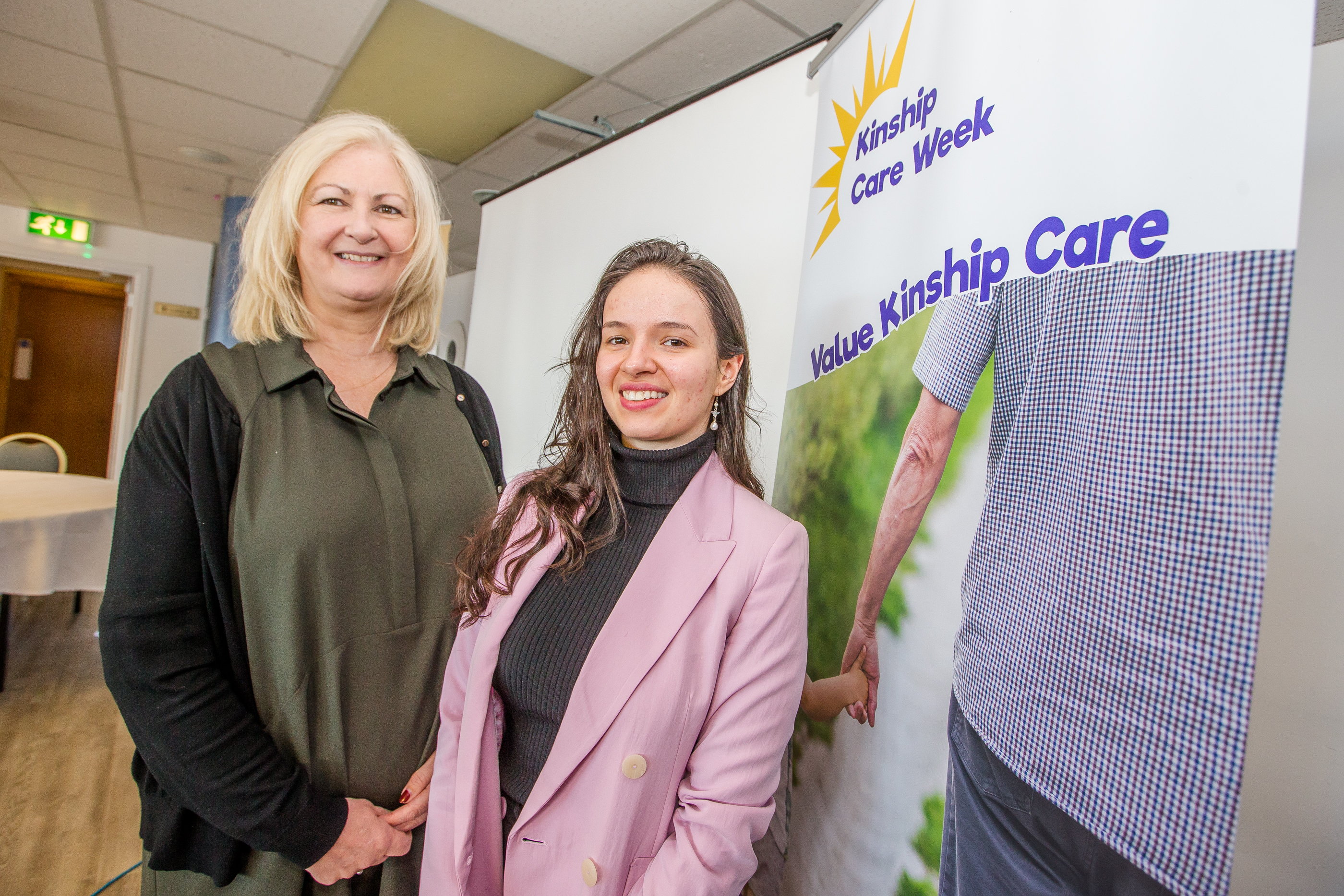 Susuan Hunter, project coordinator for Kinship Care Service Scotland and regional coordinator Georgiana Bugeag at the Kinship Care event yesterday at the Caledonian Stadium