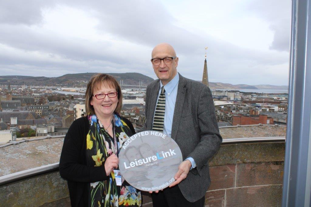 Councillor Sonya Warren, from Moray, and High Life Highland chief executive Ian Murray