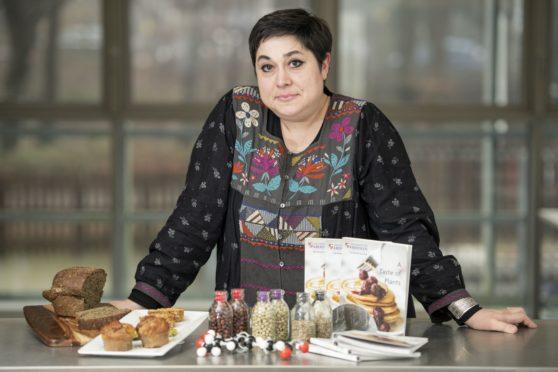 Dr Madalina Neacsu with a range of buckwheat products.
