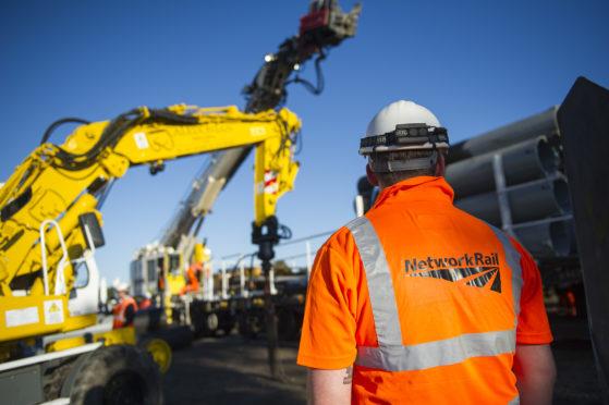 Network Rail engineers at work.