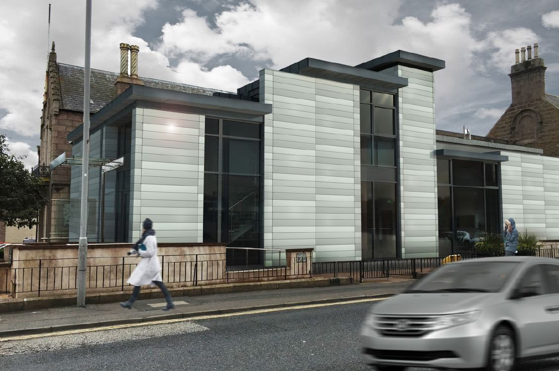 Design plans for how Peterhead Sheriff Court will look