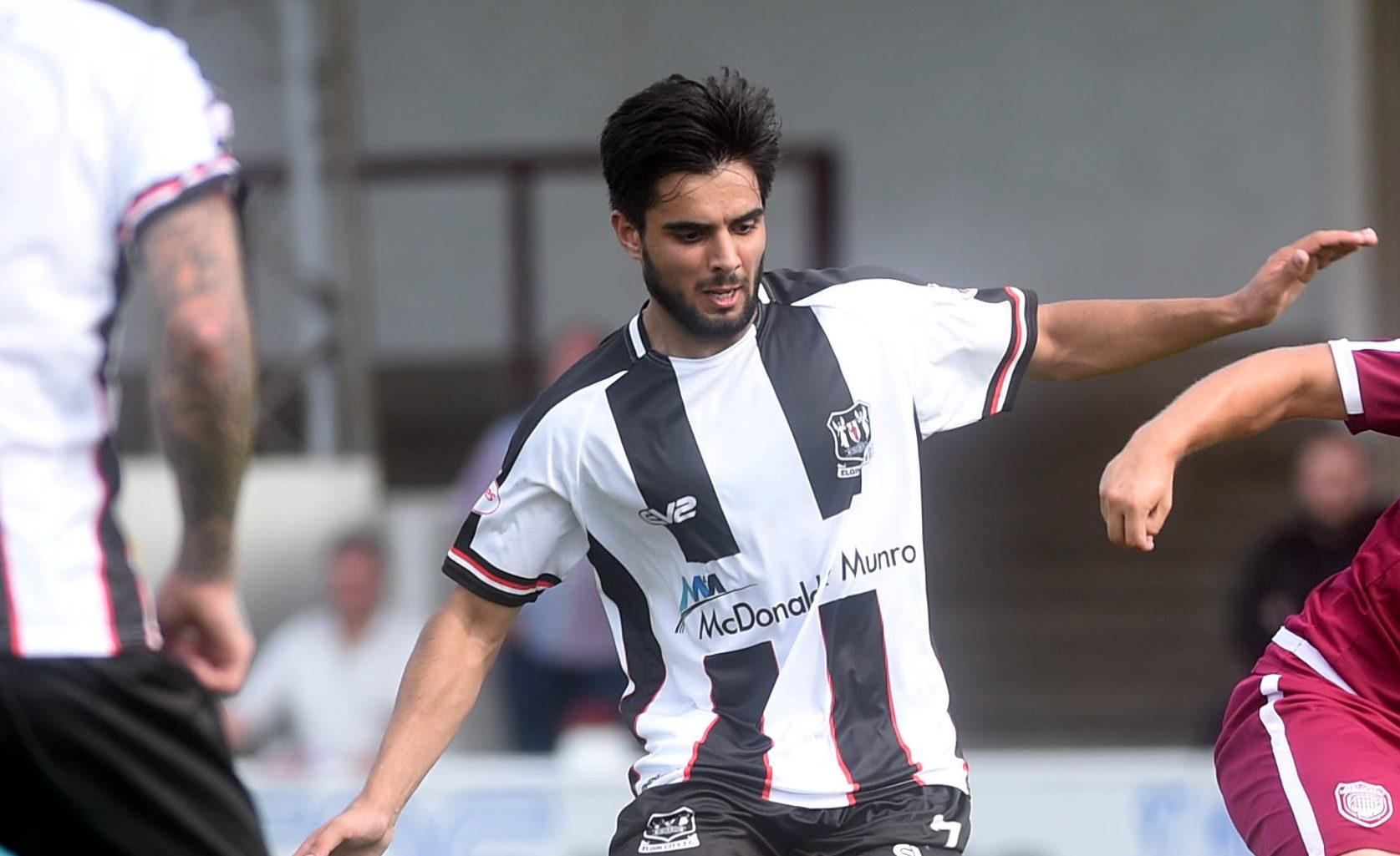 Former Elgin City midfielder Rabin Omar.