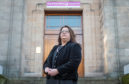 Shona Morrison SNP Co-Leader outside of the council chambers in Elgin, Moray.