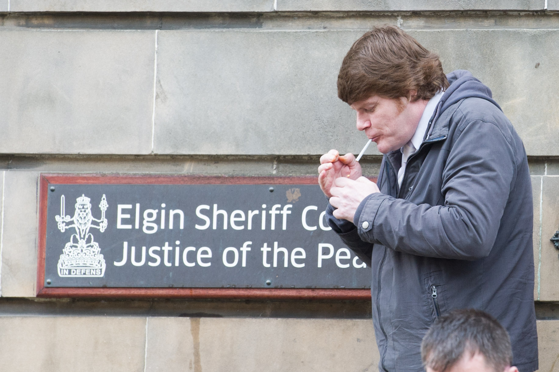 Barry Simpson is pictured at Elgin Sheriff Court.