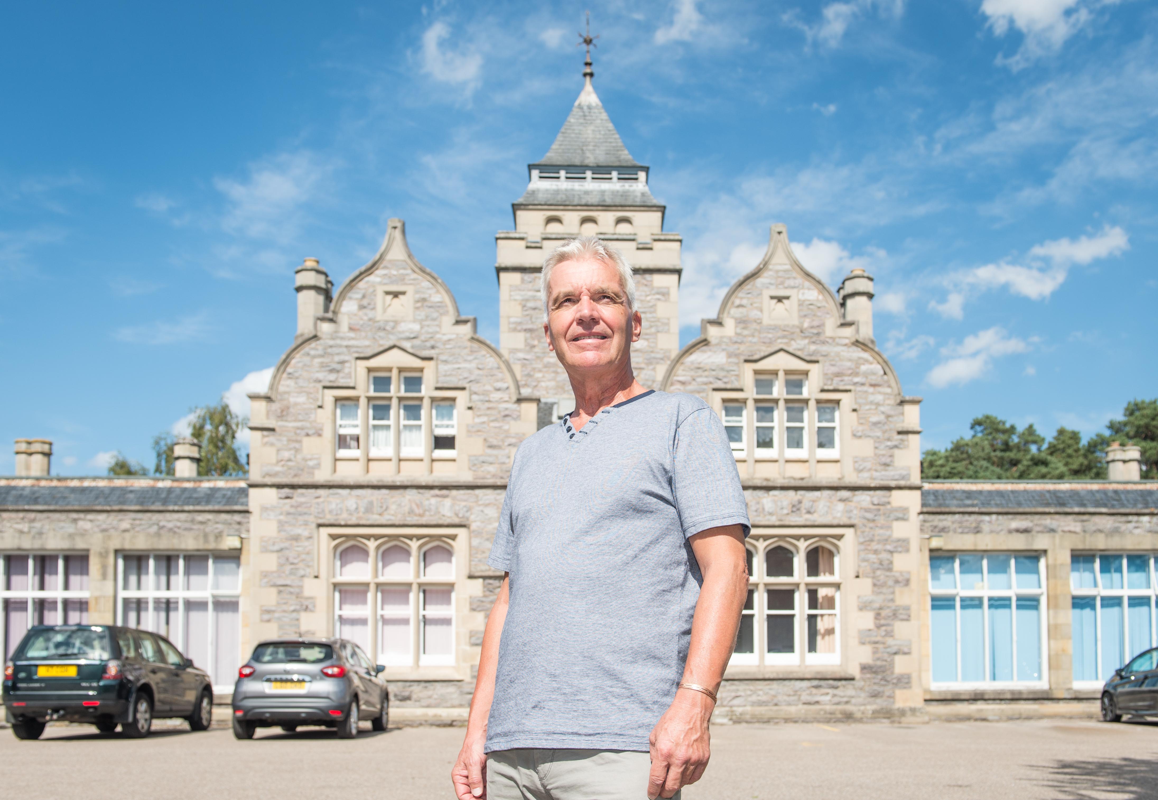 Graham Hilditch outside Leanchoil Hospital