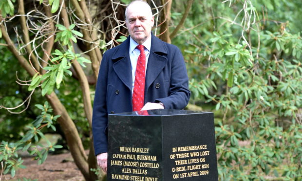 Rev Gordon Craig, pictured at the Flight 85N memorial within Aberdeen's Johnston Gardens.