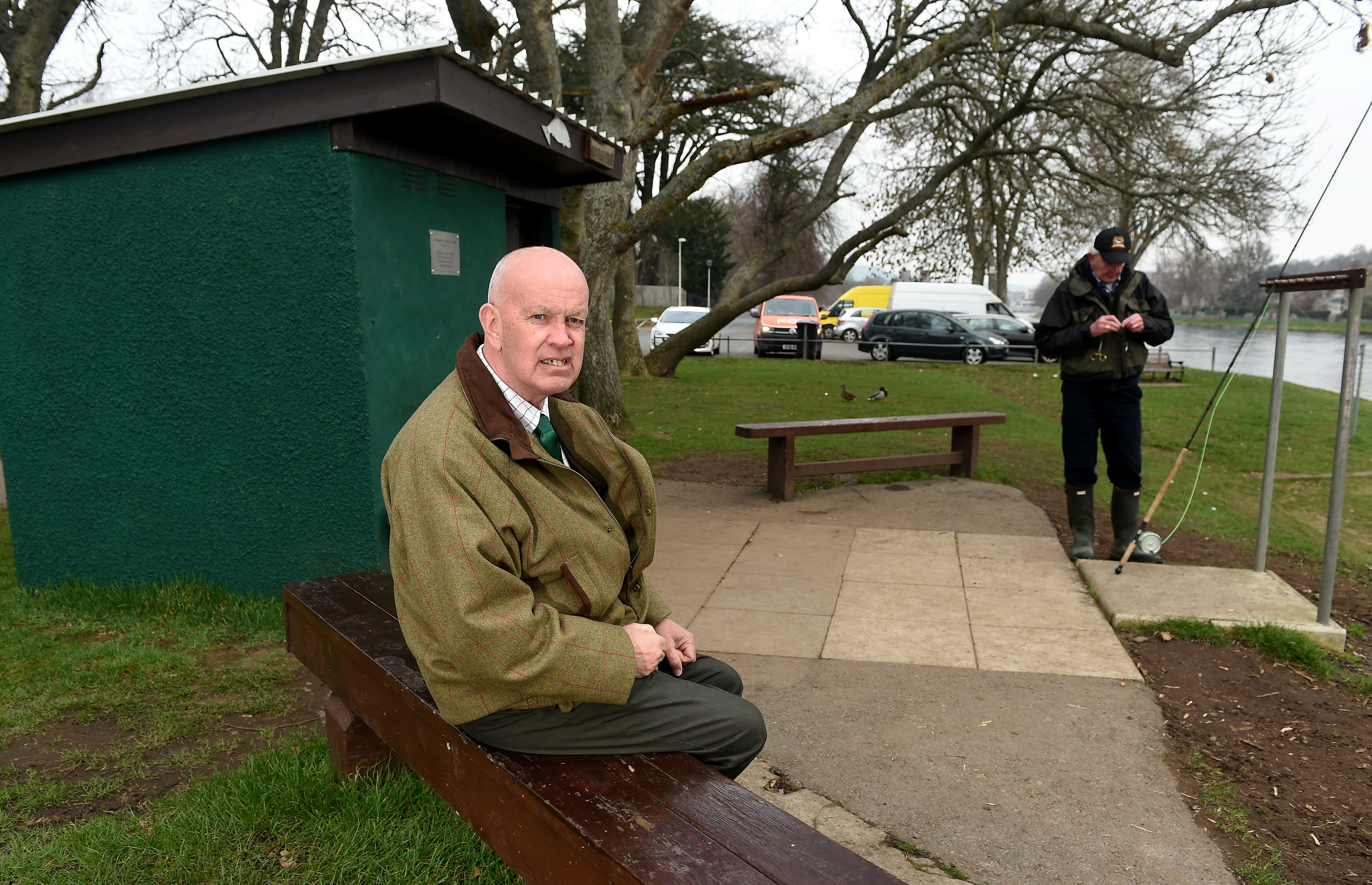 Graham Mackenzie, President of Inverness Angling Club with their current fishing bothy on the banks of the Ness which will have to be demolished for the new public art works.